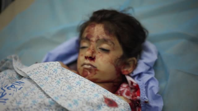 dead body of 6yearold lama marwan mousa was killed saturday when a jewish settler ran her over with his vehicle in the southern occupied west bank... - palestine girl stock videos and b-roll footage