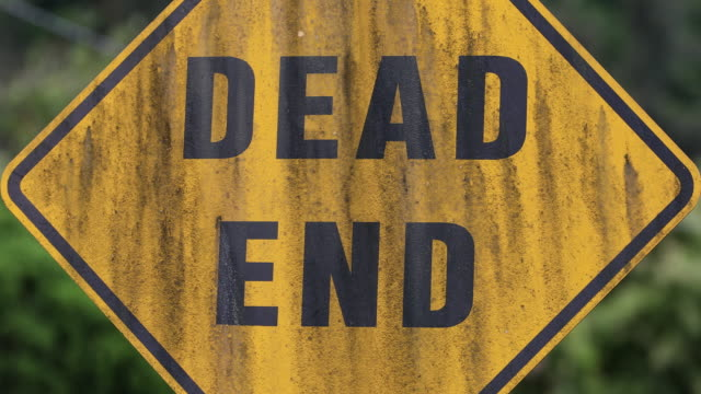 dead end road - stop sign stock videos and b-roll footage