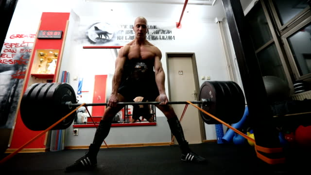 dead lift exercise - weight training stock videos and b-roll footage