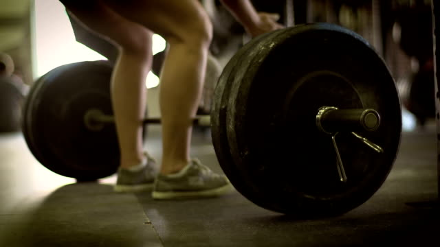dead lift - weight training stock videos and b-roll footage