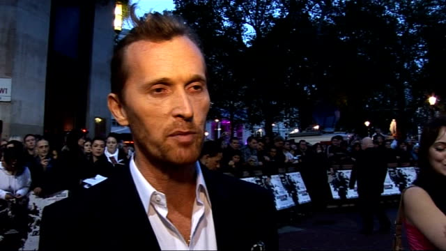 'Dead Man Running' film premiere red carpet arrivals Alex De Rakoff interview SOT On it being a pleasure to work with Tamer Hassan and Danny Dyer /...