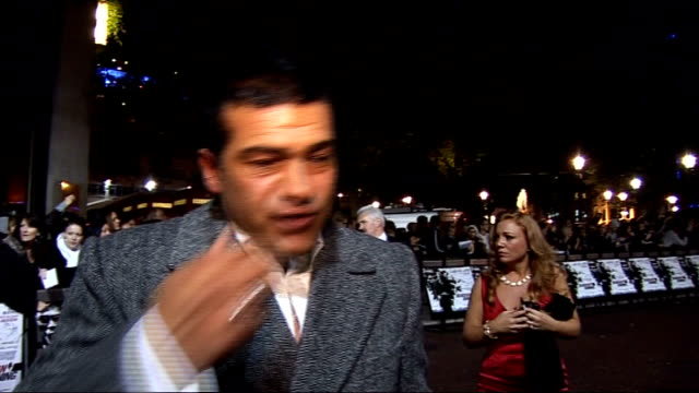 'dead man running' film premiere red carpet arrivals tamer hassan interview sot on finally landing a lead role and how nervous he was ashley and... - fifty cent coin stock videos and b-roll footage