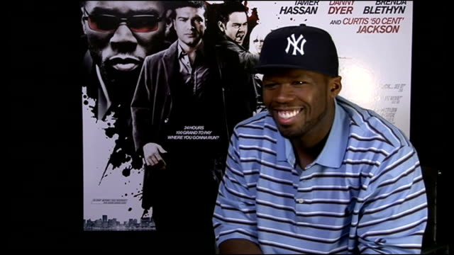 'dead man running' interviews 50 cent interview sot discusses his role as 'mr thigo' in film - fifty cent coin stock videos and b-roll footage