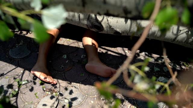 dead man under broken tree - damaged stock videos & royalty-free footage