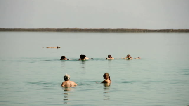 dead sea - floating on water stock videos & royalty-free footage