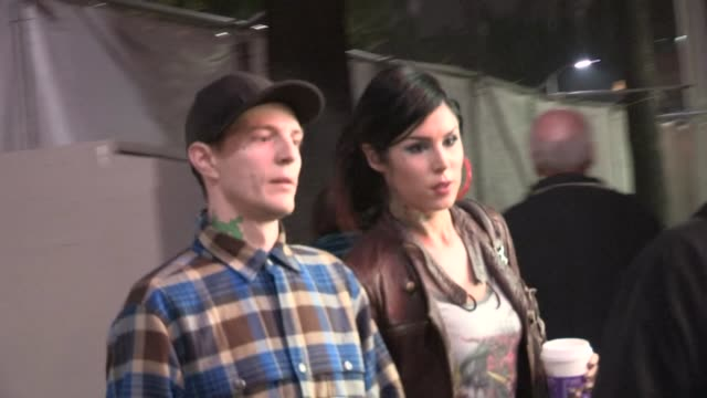 deadmau5 kat von d at the 2012 hollywood christmas parade in hollywood 11/25/12 - sfilata di natale di hollywood video stock e b–roll