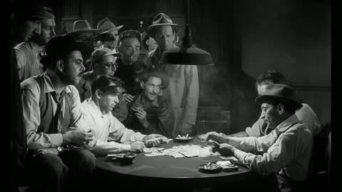 1955 dealer (frank sinatra) angers poker players when he beats them - gambling stock videos & royalty-free footage