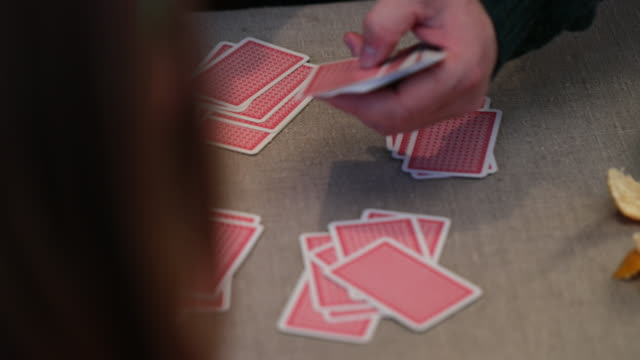 dealing cards - dealing cards stock videos and b-roll footage