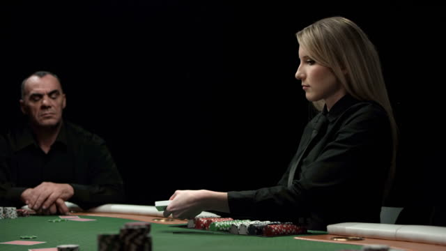 hd dolly: dealing poker cards - dealing cards stock videos and b-roll footage