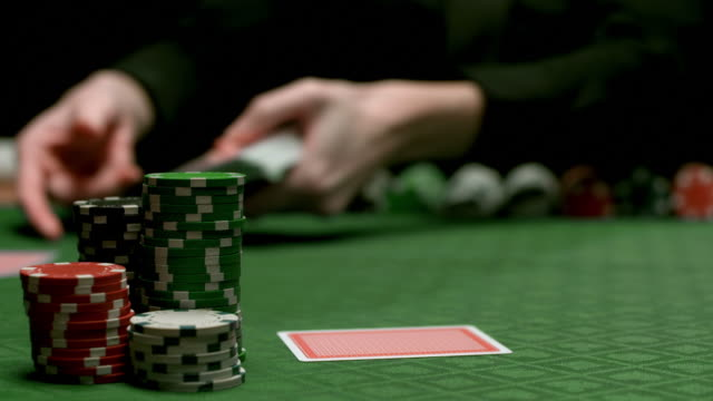 hd: dealing poker cards - gambling chip stock videos and b-roll footage