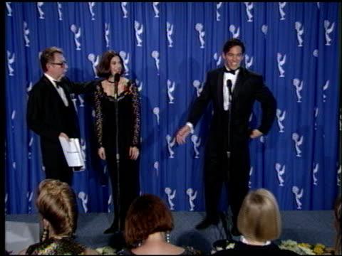 dean cain at the 1993 emmy awards press room at the pasadena civic auditorium in pasadena california on september 19 1993 - anno 1993 video stock e b–roll