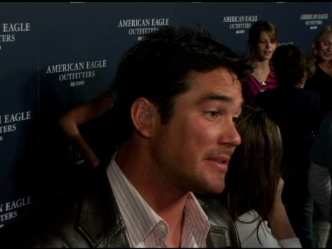 dean cain at the back to school tailgate party arrivals by american eagle outfitters at hollywood lot in hollywood california on august 24 2004 - american eagle outfitters stock videos & royalty-free footage