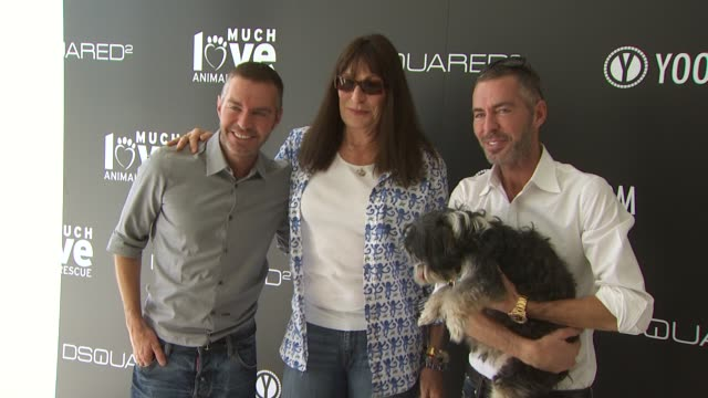 Dean Dan Caten Anjelica Huston at the yooxcom and DSQUARED2 Canine Couture Launch To Benefit Much Love Animal Rescue at Beverly Hills CA
