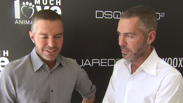 Dean Dan Caten of DSQUARED2 on their new line of canine couture their collaboration with Yooxcom why Much Love Animal Rescue is a cause close to...