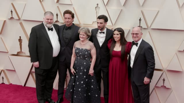 dean deblois, bradford lewis, gerard butler, bonnie arnold, jay baruchel and america ferrera at the 92nd annual academy awards at dolby theatre on... - america ferrera stock videos & royalty-free footage