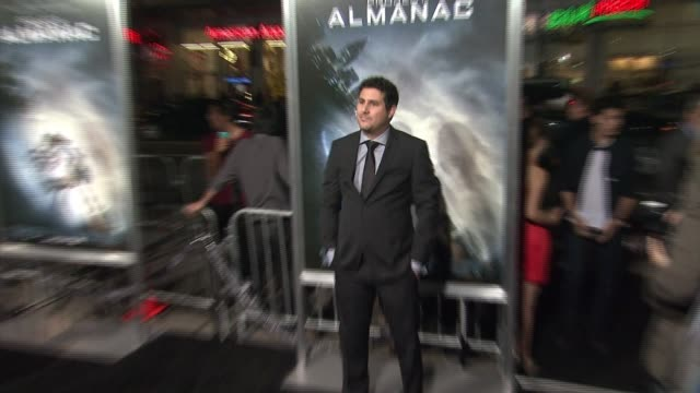dean israelite at the project almanac los angeles premiere at tcl chinese theatre on january 27 2015 in hollywood california - israelite stock videos & royalty-free footage