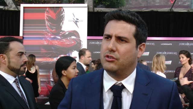interview dean israelite on how excited he is for the power rangers premiere the best part of directing such a massive production how important it... - israelite stock videos & royalty-free footage