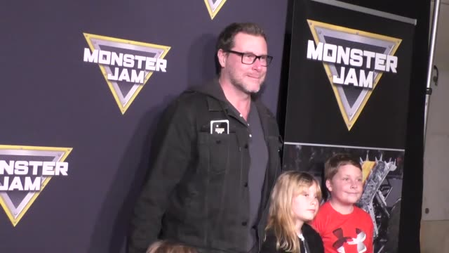 dean mcdermott at monster jam celebrity night at angel stadium of anaheim at celebrity sightings in los angeles on january 16, 2016 in los angeles,... - angel stadium stock videos & royalty-free footage