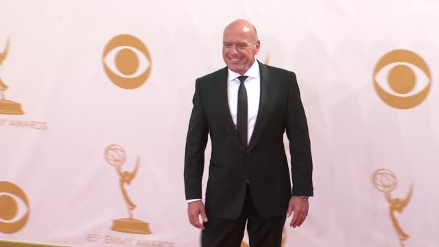 dean norris at the 65th annual primetime emmy awards - arrivals in los angeles, ca, on 9/22/13. - annual primetime emmy awards stock-videos und b-roll-filmmaterial