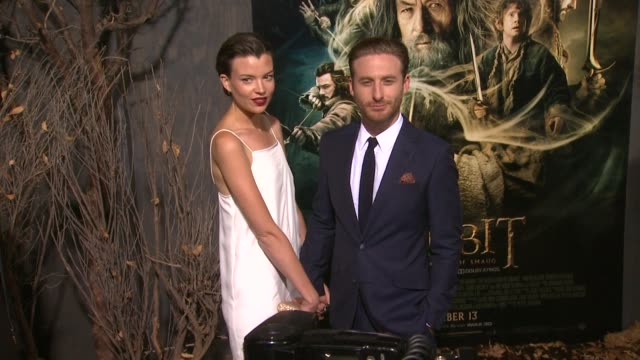dean o'gorman at the hobbit the desolation of smaug los angeles premiere in hollywood ca on 12/2/2013 - premiere stock-videos und b-roll-filmmaterial