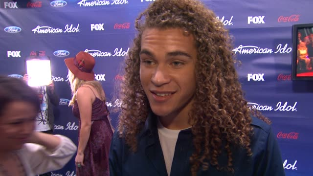 deandre brackensick on how it feels to be out here tonight at meet the american idol judges finalists on 3/1/2012 in los angeles ca - american idol stock videos and b-roll footage