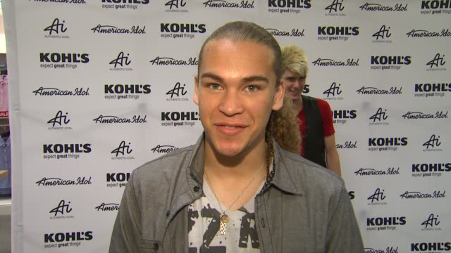 deandre brackensick on kohl's 50th birthday and why he is here at american idol season 11 contestants appear at los angeles kohl's for american... - american idol stock videos and b-roll footage