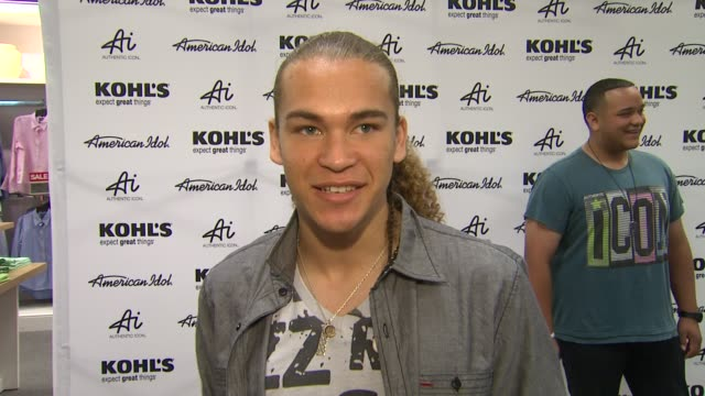 deandre brackensick on kohl's fashion line fashion inspirations and celebrity styles at american idol season 11 contestants appear at los angeles... - american idol stock videos and b-roll footage