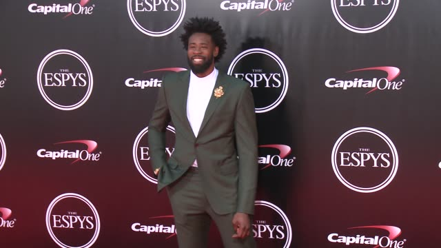 deandre jordan at the 2016 espy awards at microsoft theater on july 13 2016 in los angeles california - microsoft theater los angeles stock videos and b-roll footage