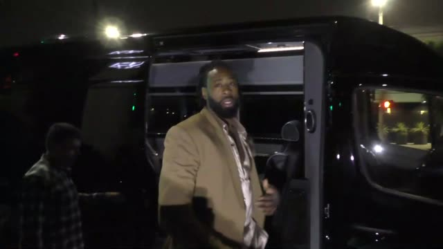 DeAndre Jordan outside Seth Meyers' Golden Globe Awards After Party at Poppy Nightclub in West Hollywood in Celebrity Sightings in Los Angeles