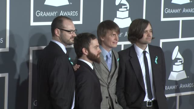 death cab for cutie at the 51st annual grammy awards part 2 at los angeles ca - 2009 stock videos & royalty-free footage