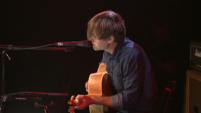 death cab for cutie frontman ben gibbard plays an acoustic set at jbtv music television / here gibbard performs 'i was a kaleidoscope' - solo performance stock videos and b-roll footage