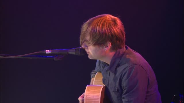 death cab for cutie frontman ben gibbard plays an acoustic set at jbtv music television / here gibbard performs 'black sun' - solo performance stock videos and b-roll footage