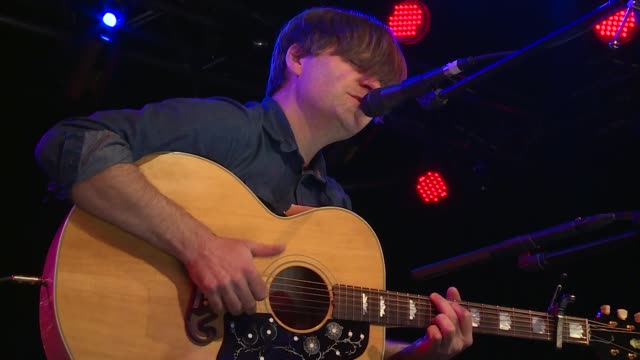 death cab for cutie frontman ben gibbard plays an acoustic set at jbtv music television / here gibbard performs 'title registration' - solo performance stock videos and b-roll footage