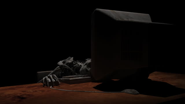 Death in front of computer