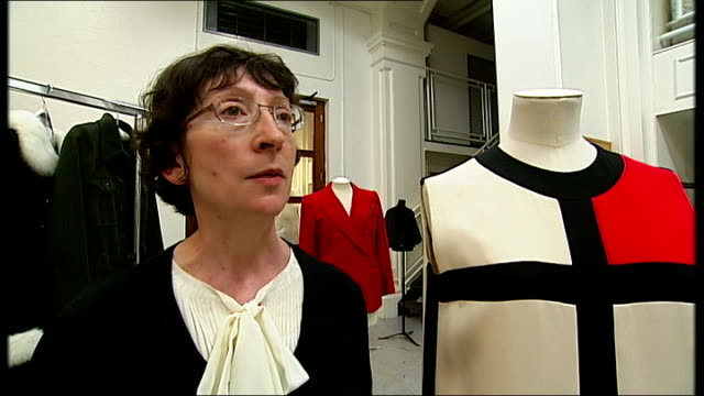 death of fashion designer yves saint laurent; england: london: claire wilcox interview sot - saint laurent stock videos & royalty-free footage