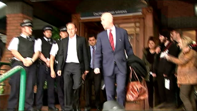 Tania Clarence appears in court ENGLAND London Wimbledon Magistrates' Court PHOTOGRAPHY** Gary Clarence out of court