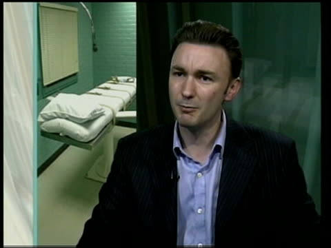 death penalty research published; england london neil durkin interview sot - this research goes long way to exploding myth of humane execution/... - hinrichtung stock-videos und b-roll-filmmaterial