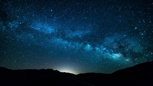 death valley milky way time lapse 4k - stars stock videos & royalty-free footage