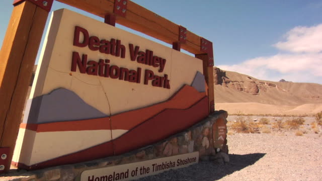 death valley sign - death valley national park stock videos & royalty-free footage
