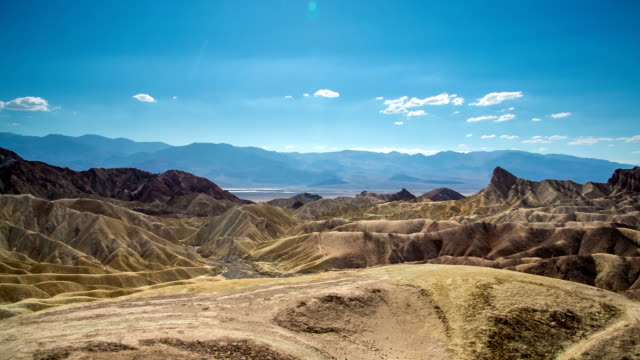 death valley zabriskie point - zabriskie point stock videos & royalty-free footage