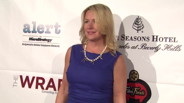 deb adair at thewrap.com pre-oscar party on 2/22/2012 in beverly hills, ca. - oscar party stock videos & royalty-free footage