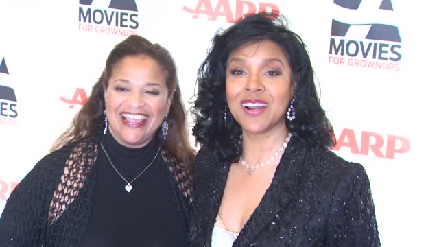 debbie allen and phylicia rashad at the aarp the magazine's 10th annual movies for grownups awards at beverly hills ca - debbie allen stock videos & royalty-free footage