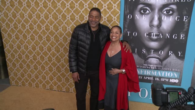 """debbie allen at the """"confirmation"""" los angeles premiere at paramount theater on the paramount studios lot on march 31, 2016 in hollywood, california. - debbie allen stock videos & royalty-free footage"""