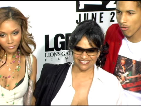Debbie Allen Daughter Morgan and Norm Nixon Jr at the 'Rize' Los Angeles Premiere at the Egyptian Theatre in Hollywood California on June 21 2005