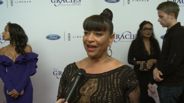 interview debbie allen on the event at 42nd annual gracie awards in los angeles ca - debbie allen stock videos & royalty-free footage