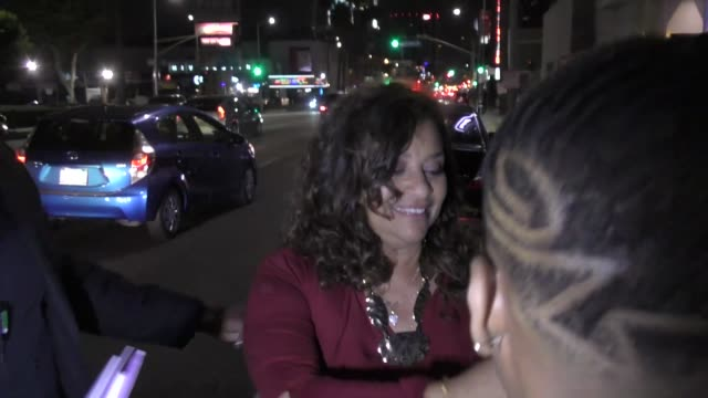 debbie allen outside the hamilton opening night party at neuhouse in hollywood in celebrity sightings in los angeles - neu stock videos & royalty-free footage