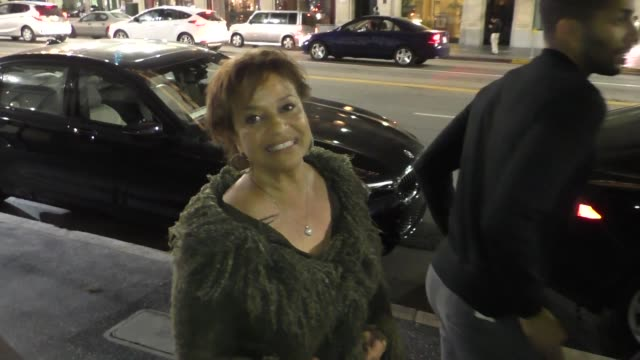 debbie allen talks about bill cosby going to prison while leaving dinner at katsuya restaurant in hollywood in celebrity sightings in los angeles, - debbie allen stock videos & royalty-free footage