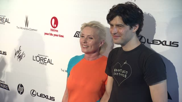 debbie harry and guest at project runway 10th anniversary party at highline on july 17 2012 in new york new york - project runway stock videos and b-roll footage
