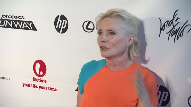 debbie harry at project runway 10th anniversary party at highline on july 17 2012 in new york new york - project runway stock videos and b-roll footage