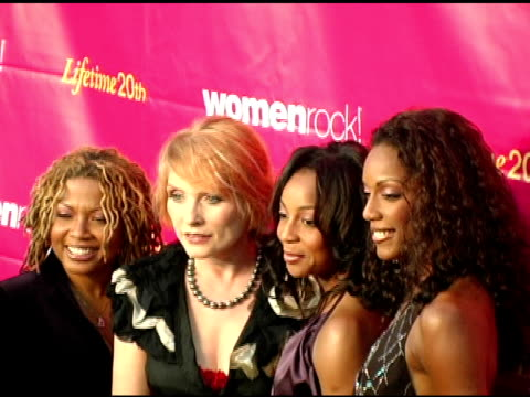 debbie harry with en vogue at the 5th annual women rock concert at the wiltern theater in los angeles california on september 28 2004 - wiltern theater stock videos and b-roll footage